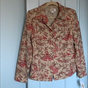Talbots floral blazer with side pockets